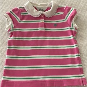 Lilly Pulitzer Striped Girl Ruffle Collar Polo 6
